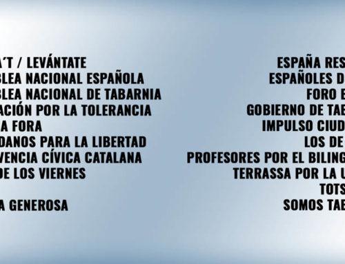 El Tejido Asociativo Catalán con varias asociaciones y entre ellas, Espanya i Catalans, en la Manifestación de este domingo 17F2019 en Barcelona a las 11.30h