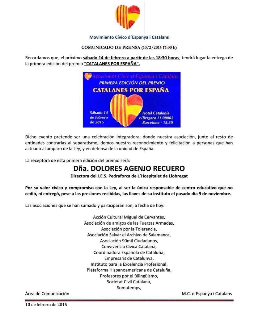 cartel premio catalanes por españa