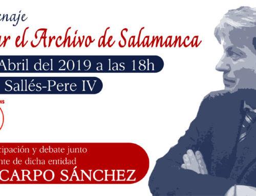 Acto «Salvar el Archivo de Salamanca» con Policarpo Sánchez