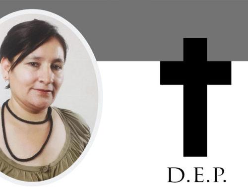 Comunicado: Fallecimiento de Mayda Mancilla
