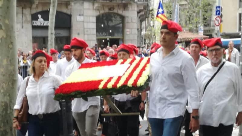 espanya i catalans ofrenda rafael casanova