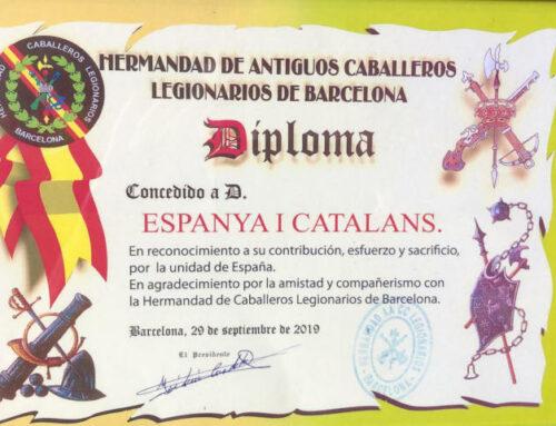 La Hermandad de Antiguos Caballeros Legionarios de Barcelona nos condecora