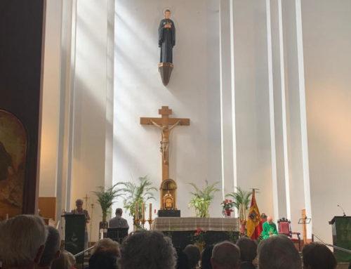 Espanya i Catalans en Misa de la Patrona de la Federación de Soldados de Montaña en el Santuario de Santa Gema