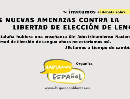 Espanya i Catalans apoya e invita a acudir al debate de Hablamos Español