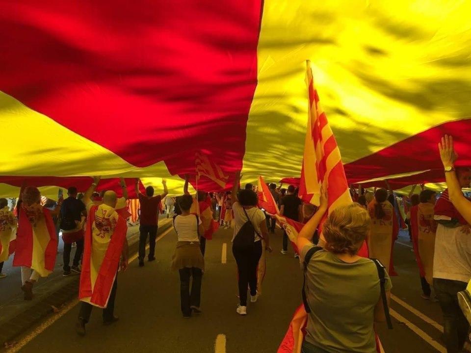 bandera cataluña gigante