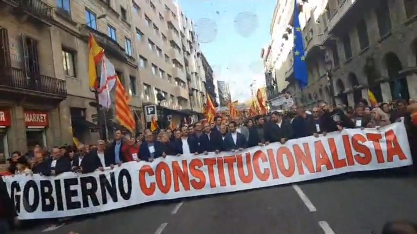 pancarta constitucionalista