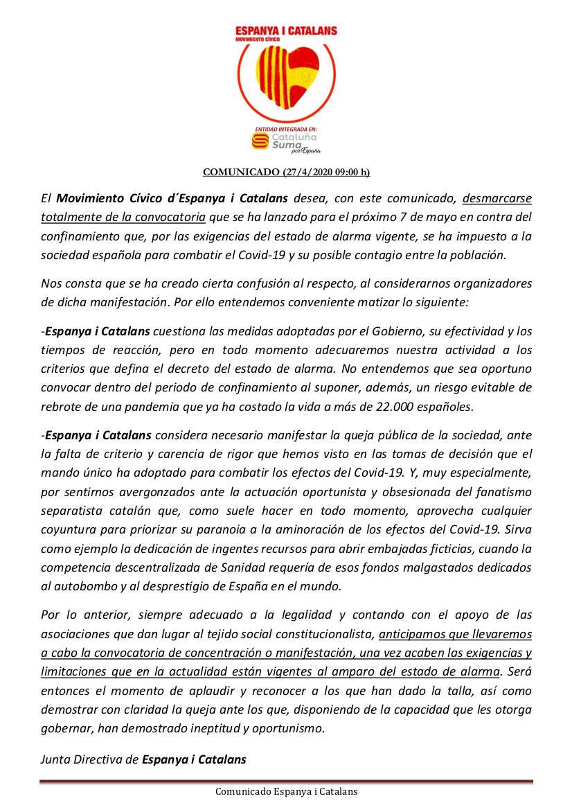 comunicado espanya i catalans
