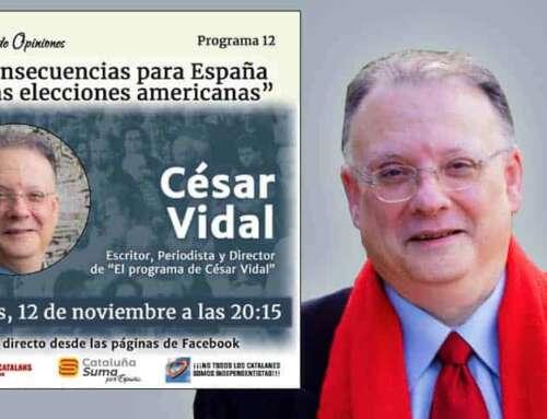 Cataluña Suma Por España invita a César Vidal para debatir sobre las elecciones de EEUU