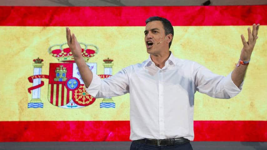 Sanchez, bandera de españa